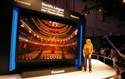 Panasonic plasma 150 pouces